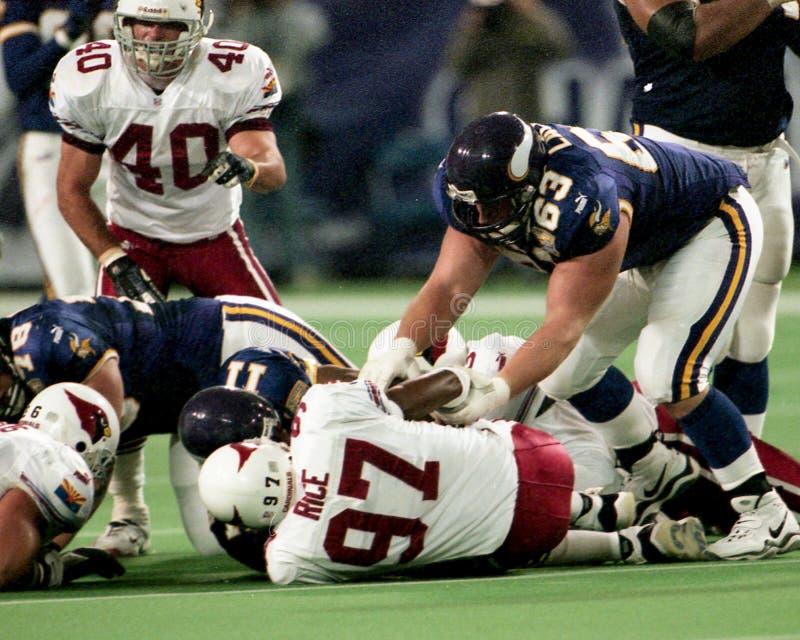 Corbin Lacina, Minnesota Vikings imagem de stock royalty free