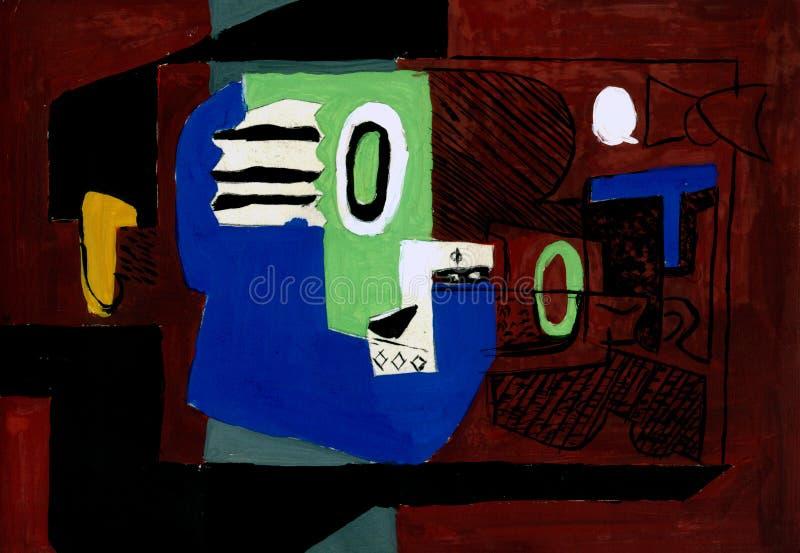 Corbue oleju abstrakcjonistyczny obraz ilustracja wektor