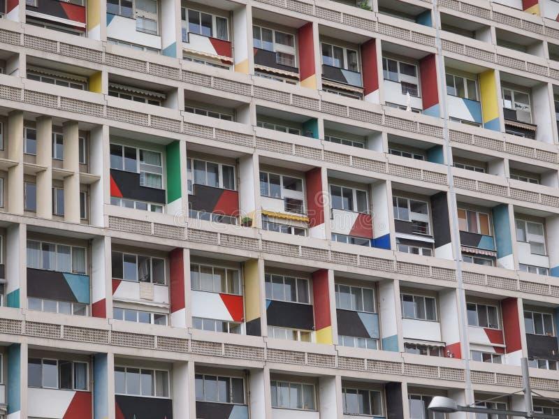 Corbusierhaus Berlino fotografie stock