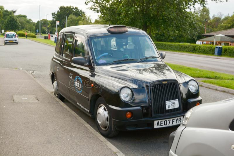 Corby, U.K., june 20, 2019 - typicalenglish taxi, black cab stock images