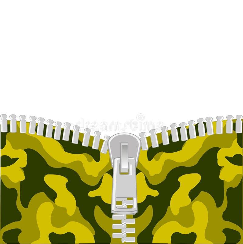 Corchete en camuflaje stock de ilustración