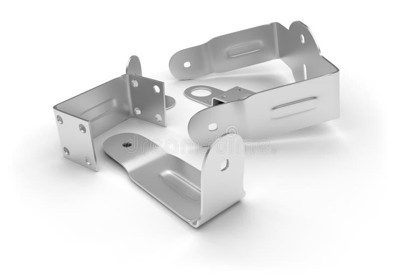 Corchetes del metal stock de ilustración
