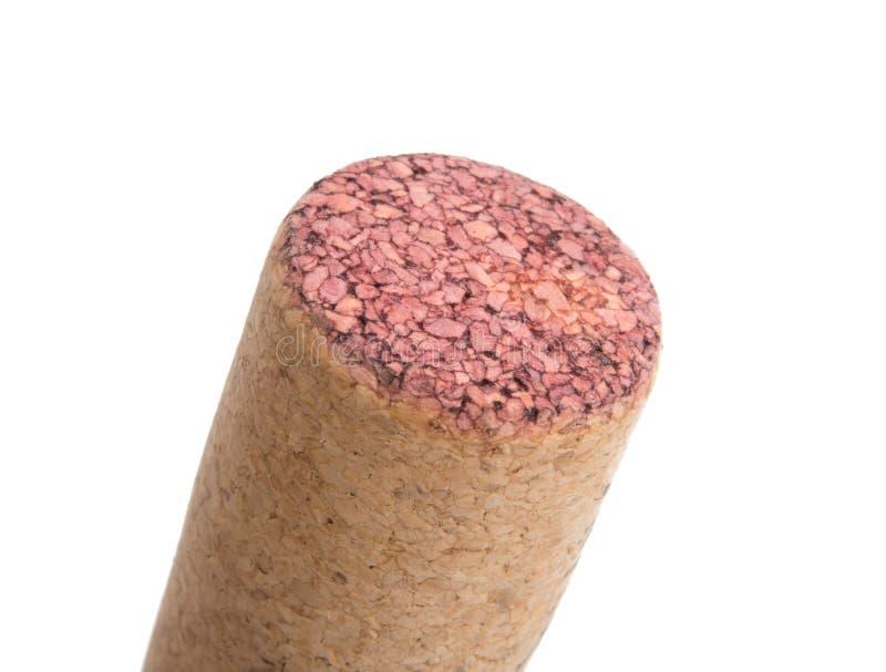 Corcho del vino aislado imagen de archivo libre de regalías