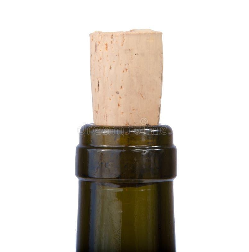 Corcho del vino aislado fotos de archivo