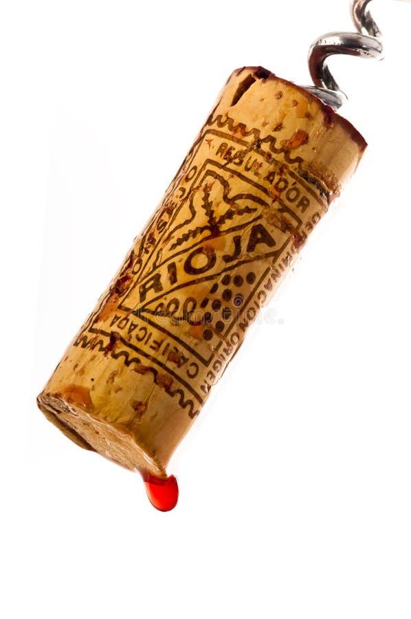 Corcho recientemente tirado Rioja marcado del vino. fotografía de archivo
