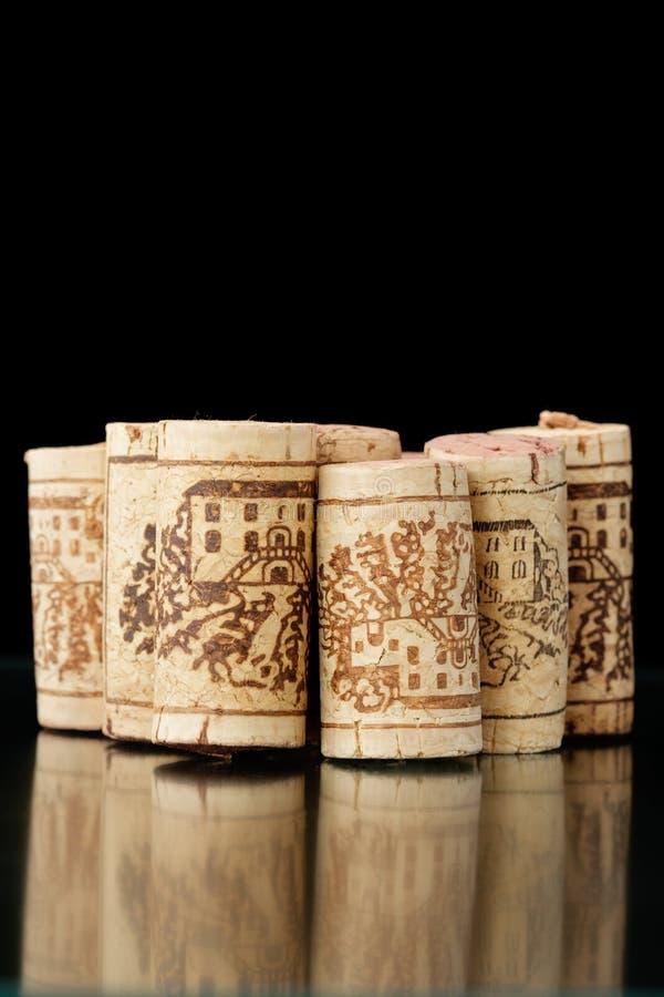 Corchos 2 del vino foto de archivo