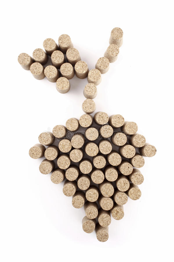 Corchos del racimo de la uva imagenes de archivo