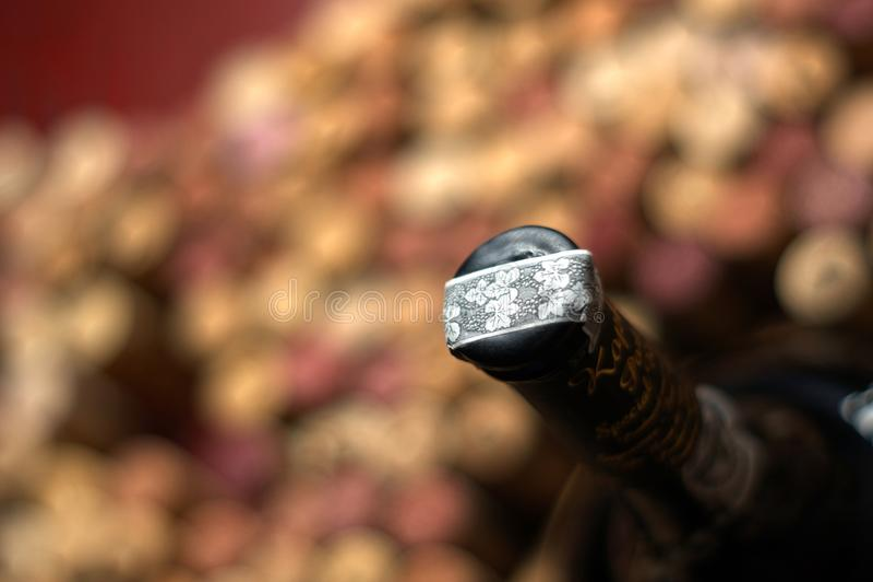 Corchos del vino fotografía de archivo libre de regalías
