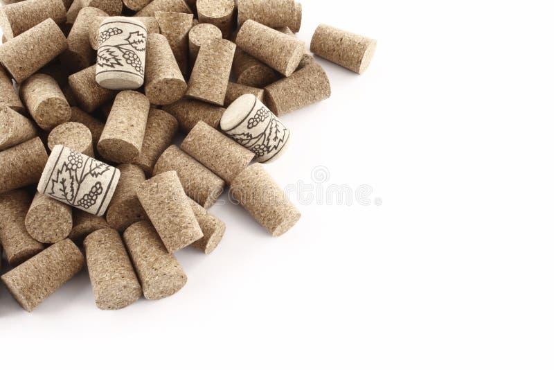 Corchos del vino de la esquina imagenes de archivo
