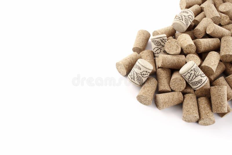 Corchos del vino del maíz derecho fotos de archivo libres de regalías