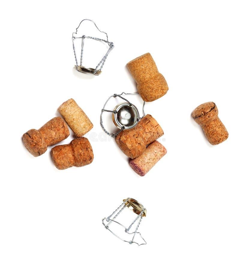 Corchos del vino y de los muselets del champán foto de archivo libre de regalías