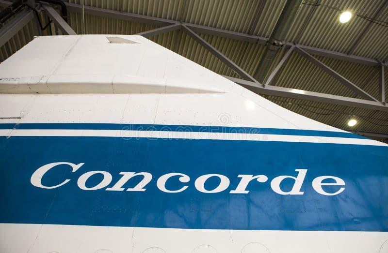 Corcorde尾翼 库存照片
