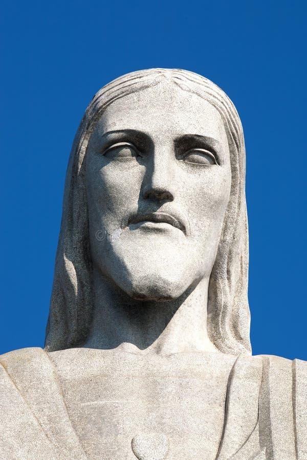 Corcovado Rio de Janeiro della statua del Redeemer del Christ immagini stock libere da diritti