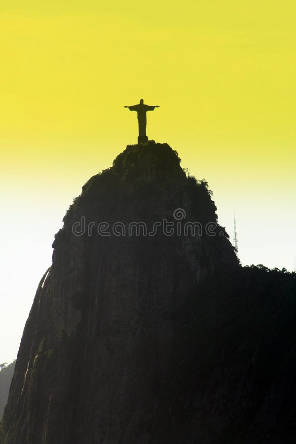 Corcovado's Christ Statue at Rio stock photography