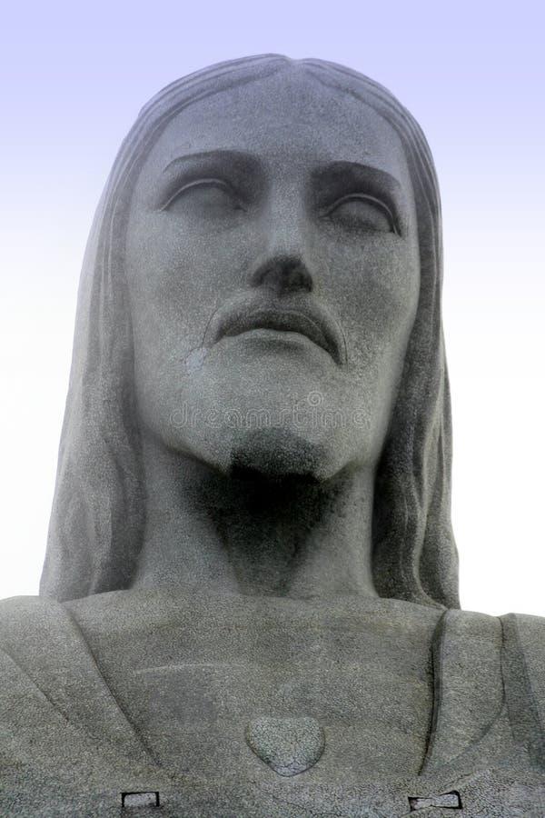 Corcovados Christ-Statue in Rio lizenzfreies stockbild