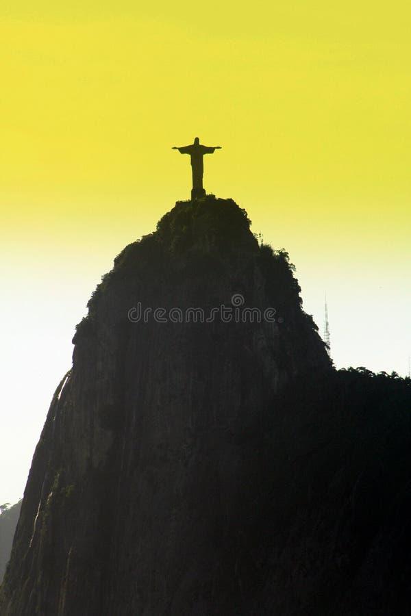 Corcovados Christ-Statue in Rio stockfotografie