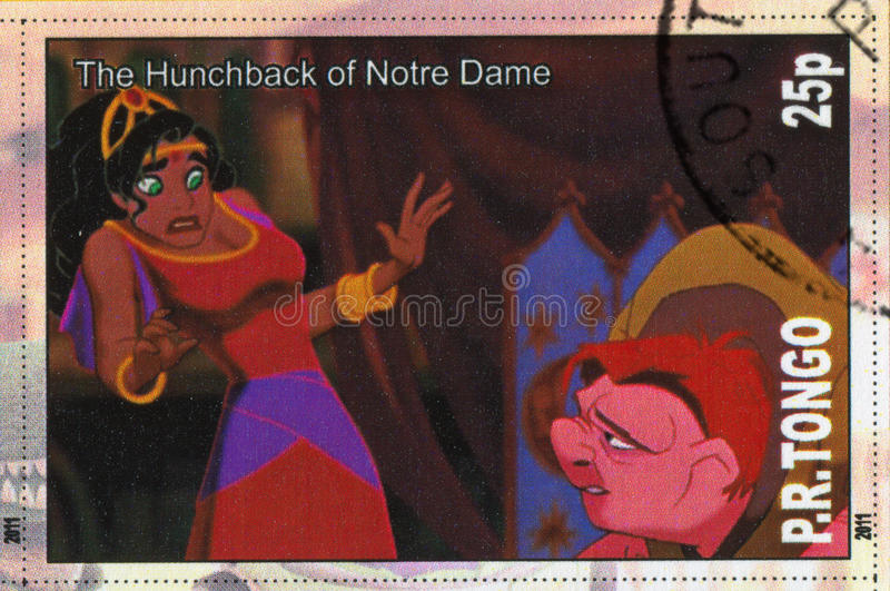 A corcunda de Notre Dame imagens de stock