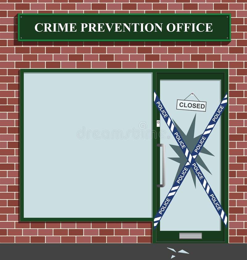 Cordão da polícia ilustração royalty free