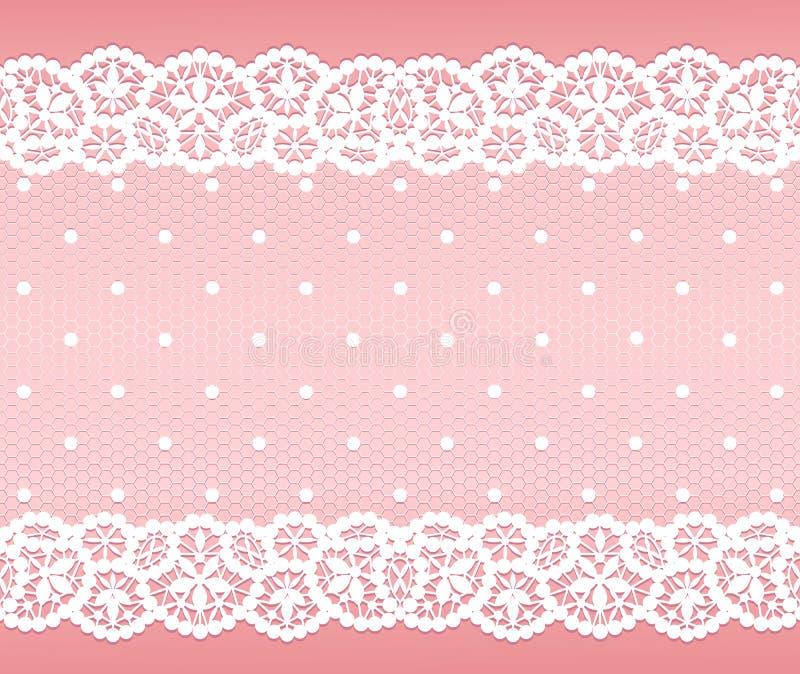 Cordón blanco stock de ilustración