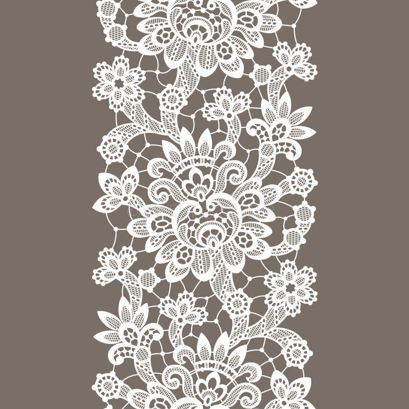 Cordón blanco del vector Modelo inconsútil vertical ilustración del vector