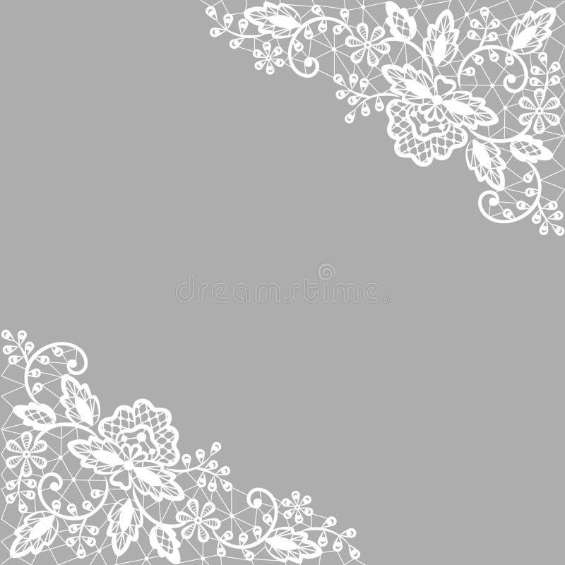 Cordón blanco en fondo gris ilustración del vector