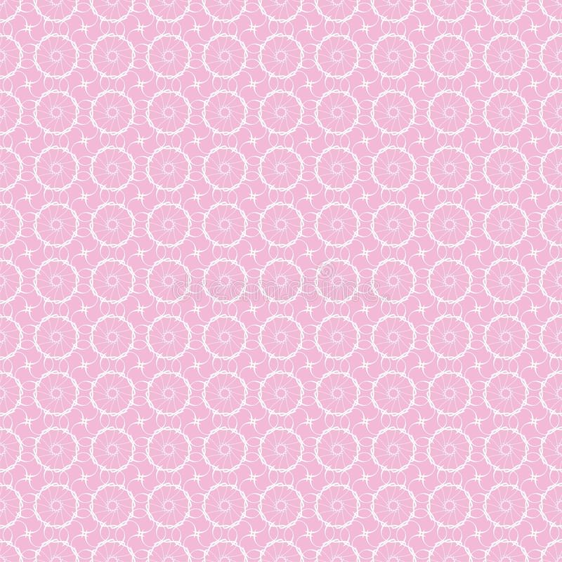 Cordón blanco en fondo rosado, inconsútil libre illustration