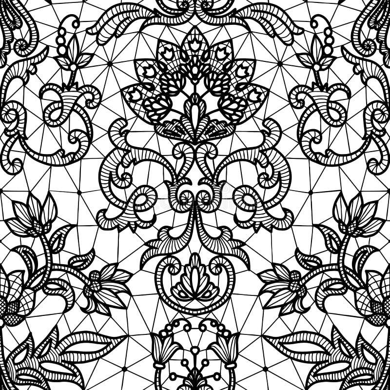 Cordón blanco inconsútil ilustración del vector