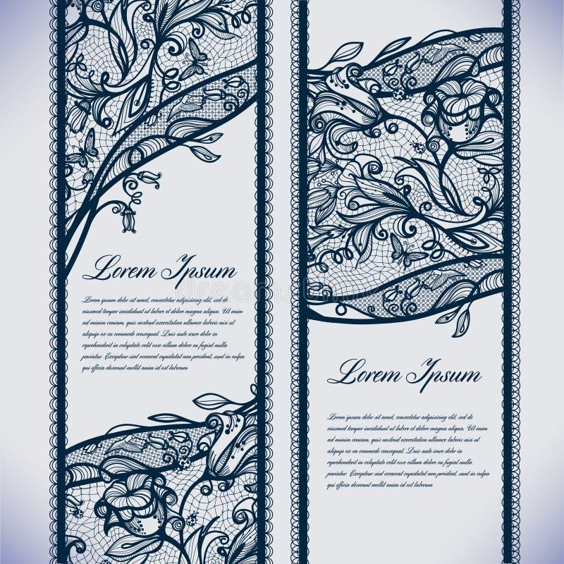 Cordón de las banderas ilustración del vector