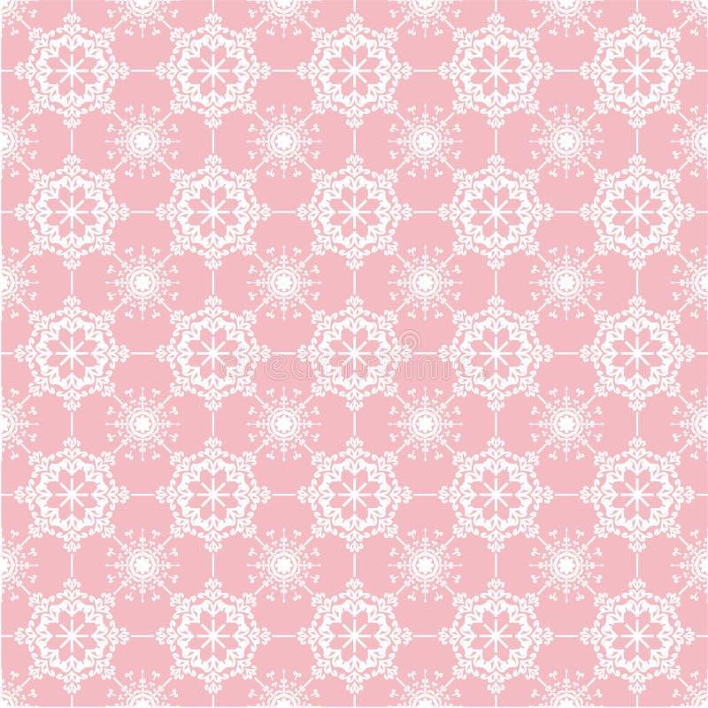 Cordón en fondo rosado ilustración del vector