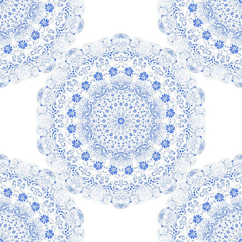 Cordón inconsútil del azul del modelo de la textura fotografía de archivo libre de regalías