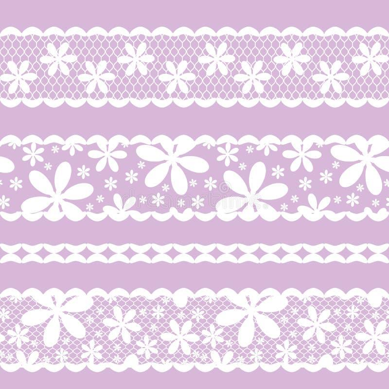 Cordón inconsútil del modelo de la cinta, color de la lila stock de ilustración