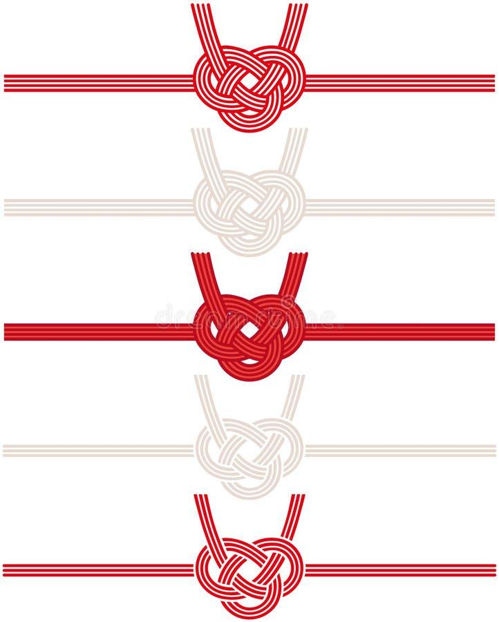 Cordón japonés decorativo hecho del papel torcido libre illustration