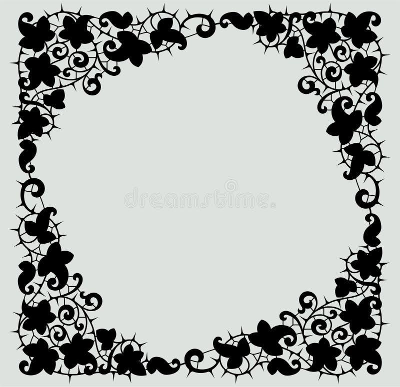 Cordón negro Marco cuadrado ilustración del vector