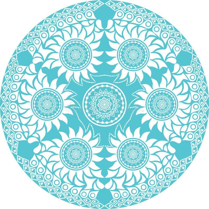 Cordón redondo ornamental ilustración del vector