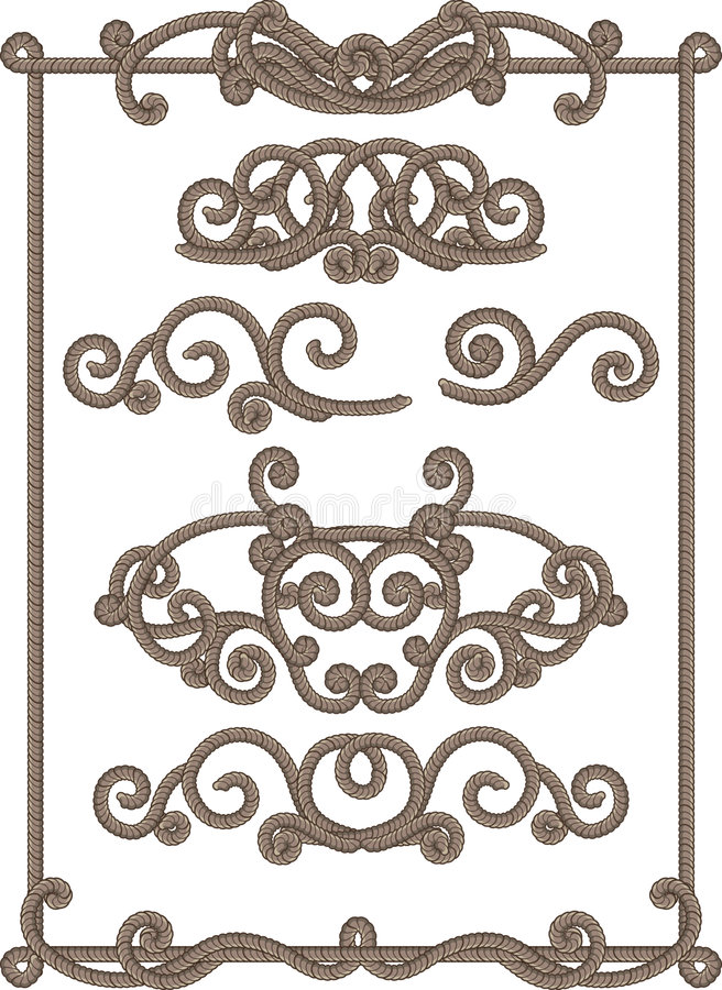 Download Cord frame stock vector. Image of fashioned, ornament - 3395325