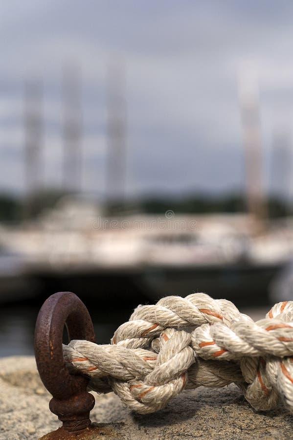 Corda annodata nautica fotografie stock libere da diritti