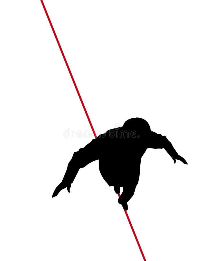 Corda apertada ilustração stock
