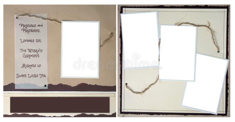 Corda in bianco e pagina di carta violenta dell'album di Digitahi fotografie stock