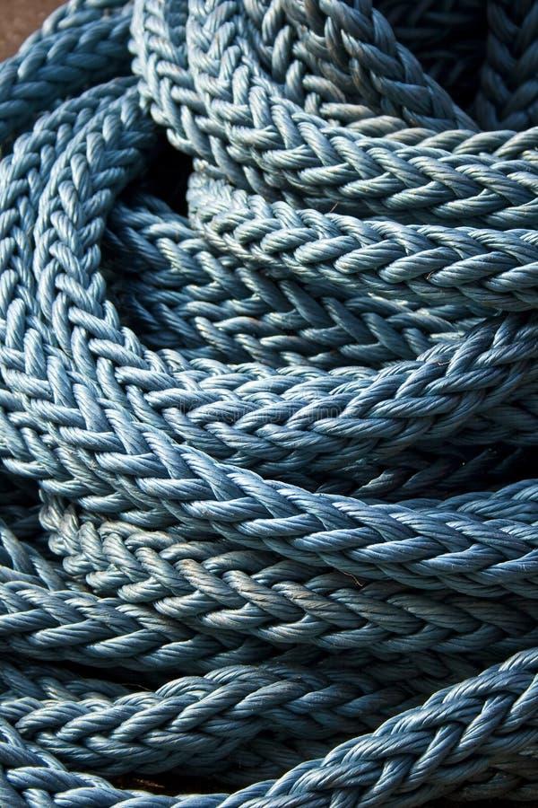 Corda blu di navigazione immagini stock