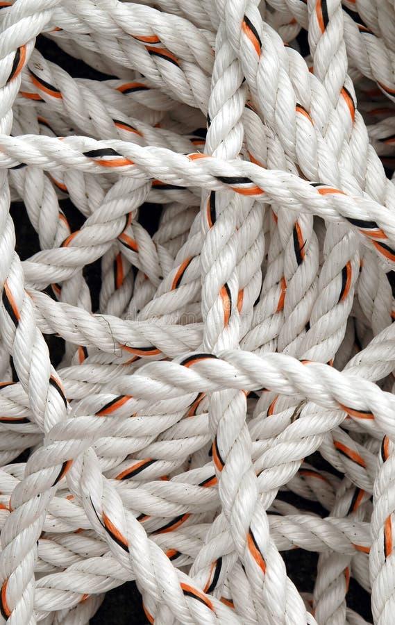 corda branca foto de stock