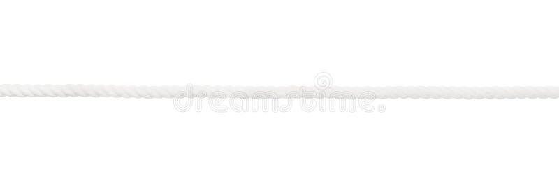 A corda branca isolou-se foto de stock royalty free