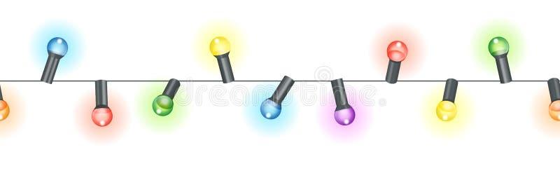 corda colorida das ampolas ilustração stock