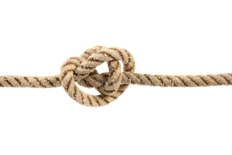 Corda con il nodo legato immagine stock