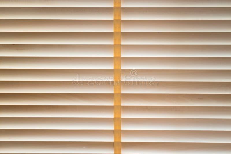 Corda cucita ciechi di legno di struttura fotografia stock