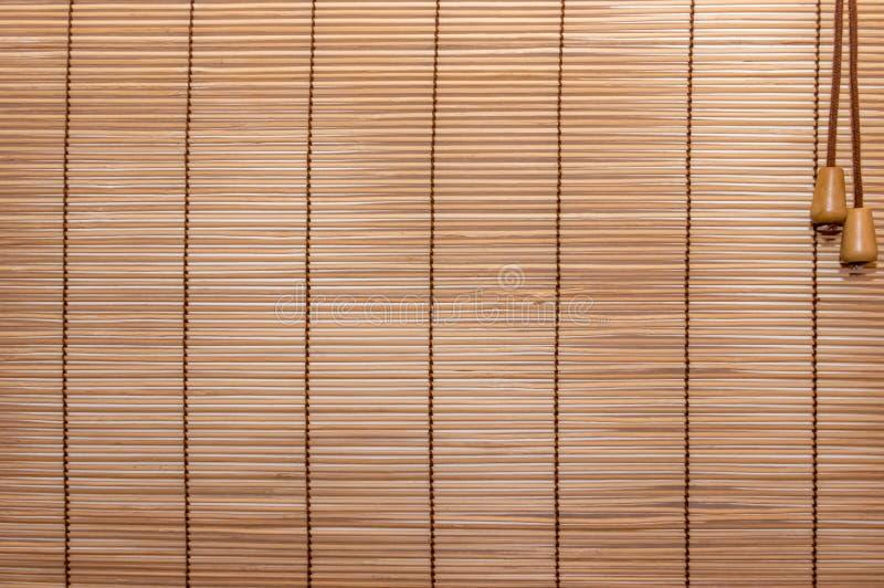 Corda cucita ciechi di legno di struttura Strisce identiche di legno, leggermente fotografie stock