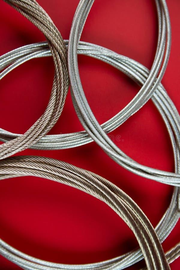 Corda d'acciaio fotografie stock libere da diritti