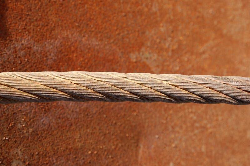Corda d'acciaio arrugginita fotografie stock libere da diritti