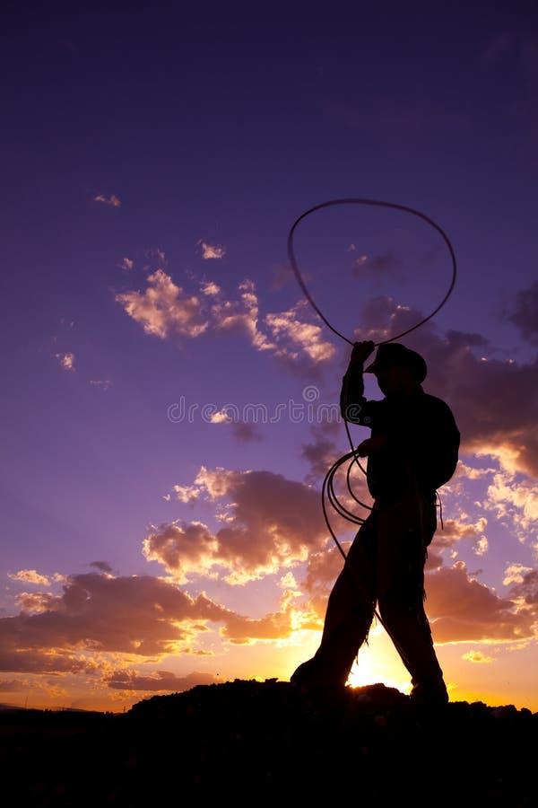 Corda d'oscillazione in su fotografia stock