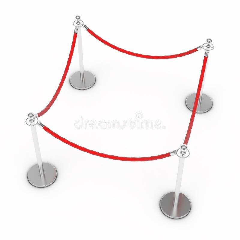 Corda da barreira ilustração stock