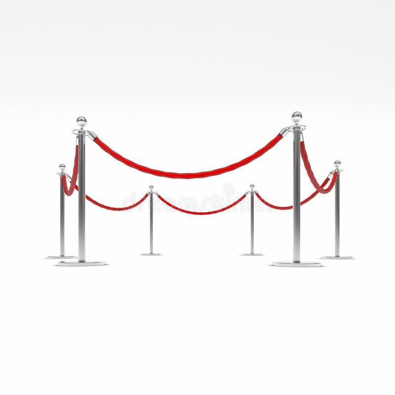 Corda da barreira ilustração royalty free